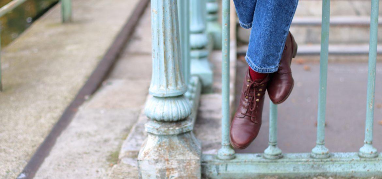 bottines à lacets vintage